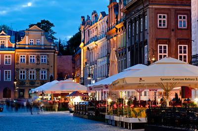 Bars on Stary Rynek, Poznan, Wielkopolska, Poland