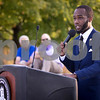 Sam Buckner for Shaw Media.<br /> NAACP NIU President Amirius Clinton speaks at the 3rd annual Unity March on Wednesday September 14, 2016.