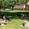 Outdoor class, Business and Engineering building.