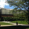 Elevated passageway to Business and Engineering building.