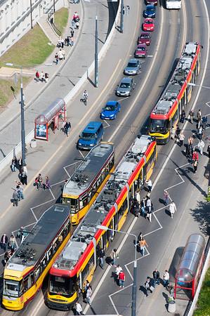 Street traffic, Warsaw, Poland