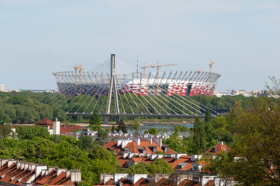 National Stadium and roofs, Warsaw, Poland