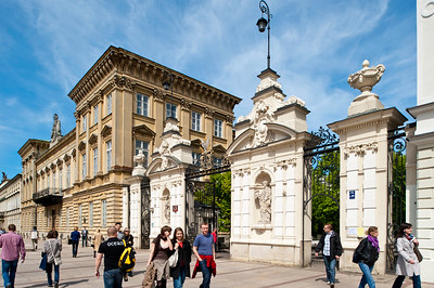 Warsaw University gate, Warsaw, Poland
