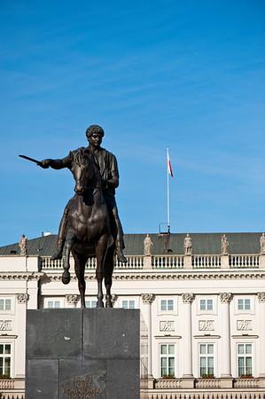 Jozef Poniatowski Statue by Presidential Palace, Warsaw, Poland