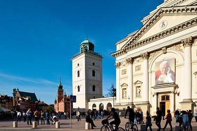 St Ann's church on Krakowskie Przedmiescie, Warsaw, Poland