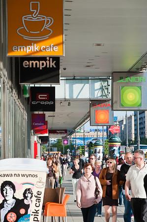 Shopping arcade along ulica Marszalkowska, Warsaw, Poland