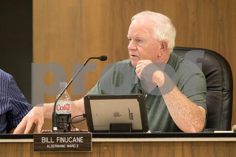 Sam Buckner for Shaw Media.<br /> Bill Finucane, 2nd ward alderman, speaks on TIF funds on Tuesday September 19, 2017.