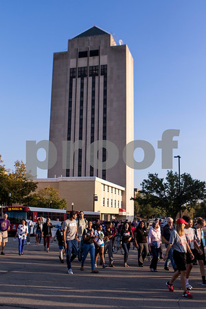 Sam Buckner for Shaw Media.<br /> Participants of the NIU Unity March walk past the Holmes Student Center on Tuesday September 19, 2017.