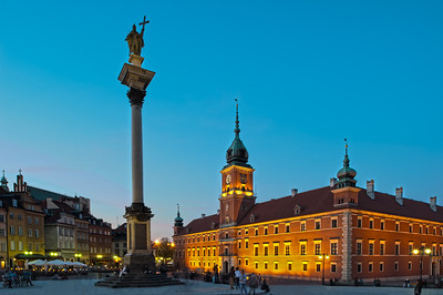 King Zygmund Column and Royal Castle, Old Town, Warsaw, Poland