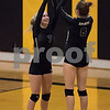 Sam Buckner for Shaw Media.<br /> Ellie Kerkove high fives Ella Carpenter as she is announced in the starting lineup on Wednesday September 20, 2017 before the game against Dekalb.