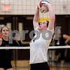 Sam Buckner for Shaw Media.<br /> Emma Fellabaum sets the ball on Wednesday September 20, 2017 at Sycamore High School.
