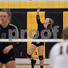 Sam Buckner for Shaw Media.<br /> Rylie Kowitzke serves the ball to Dekalb on Wednesday September 20, 2017 at Sycamore High School.