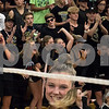 Sam Buckner for Shaw Media.<br /> Sycamore students cheer as the Sycamore starting line up is announced on Wednesday September 20, 2017.