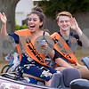 Sam Buckner for Shaw Media.<br /> Homecoming king and queen canidates Maria Mascote and Andrew Murphy wave to parade goers on Thursday September 21, 2017.