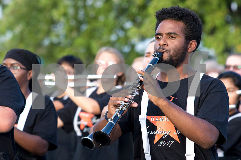 Sam Buckner for Shaw Media.<br /> Nate Harrison plays the clarinet with the DHS marching band on Thursday September 21, 2017 during the parade.