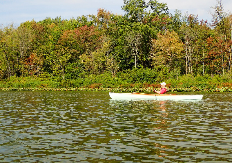 Jonathan Tressler — The News-Herald <br> A scene from the Cleveland Amateur Boatbuilding and Boating Society's Sept. 1 messabout at Bass Lake Preserve in Munson Township.
