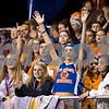 Sam Buckner for Shaw Media.<br /> Genoa-Kingston student section eagerly anticipates a touchdown call on Friday September 23, 2016.