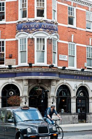 Pub on Marylebone High Street, London, United Kingdom