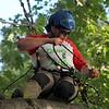 Kristi Garabrandt — The News Herald <br> Adrian Wilson participates in work climb event.