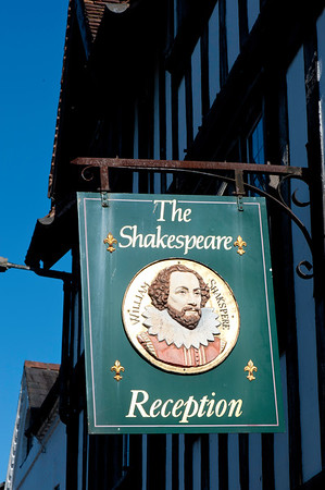 Stratford-upon-Avon, Warwickshire, United Kingdom; The town is a popular tourist destination owing to its status as birthplace of the playwright and poet William Shakespeare, receiving about three million visitors a year from all over the world.[3] The Royal Shakespeare Company resides in Stratford's Royal Shakespeare Theatre, one of Britain's most important cultural venues.