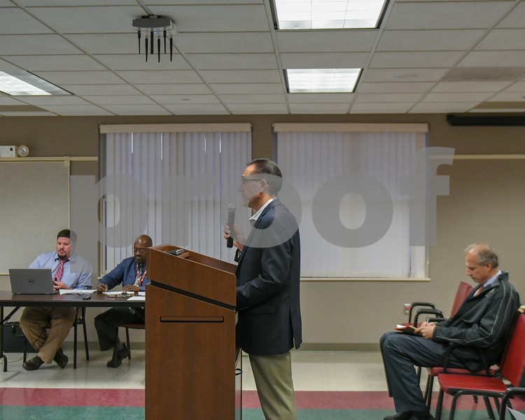 Paul Zensky of Soltage LLC talks to the DeKalb County Planning and Zoning Committee during the September 26th meeting about what would have to take place if the solar farms would be installed.