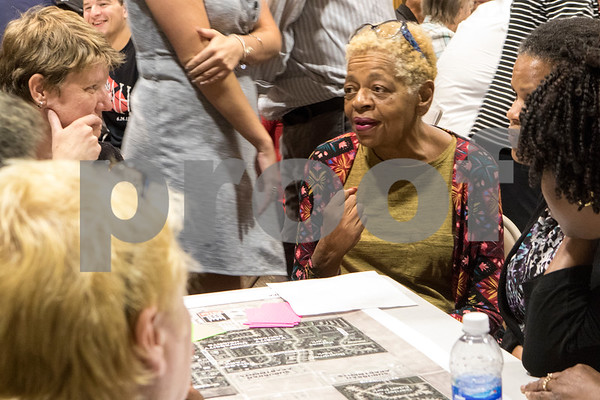 Sam Buckner for Shaw Media.<br /> Shirley Williams lists assets in the community that can be taken better advantage of on Wednesday September 27, 2017.