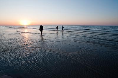 Dusk, Baltic sea coast, Debki, Poland