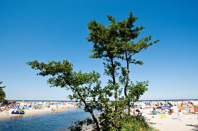 River Piasnica, Baltic sea coast, Debki, Poland