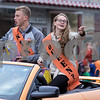 Sam Buckner for Shaw Media.<br /> Homecoming Court nominees Cole Tucker and Izzy Hayes throw candy to parade goers on Thursday September 29, 2016.