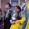 Sam Buckner for Shaw Media.<br /> Ben Rodriguez and Andrea Morales perform on their float at the homecoming  parade on Thursday September 29, 2016.