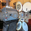 A functional 35MM projector plays an old film reel Sunday at the Egyptian Theatre.