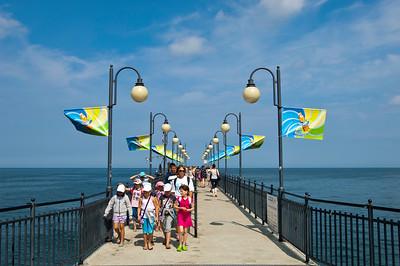 Pier overlooking Baltic Sea, Miedzyzdroje, Poland