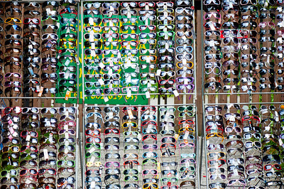 Stall selling shades, , Poland