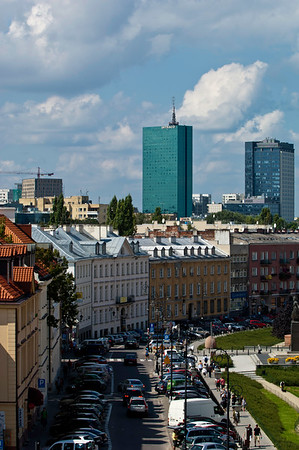 Old and new architecture, Warsaw, Poland