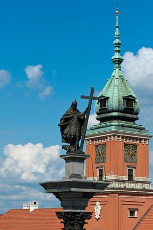 King Zygmund Column by Royal castle, Old Town, Warsaw, Poland