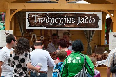Stall selling local food, Zakopane, Podhale, Poland