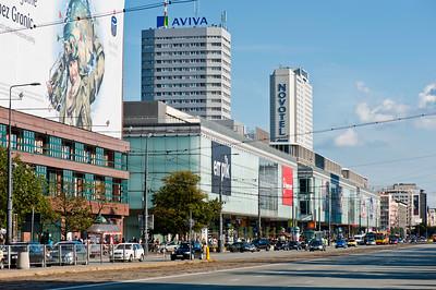 Traffic on Ulica Marszalkowska, Warsaw, Poland