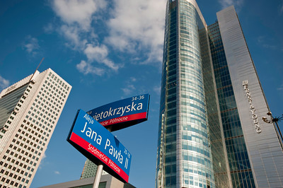 Modern and contemporary architecture in central Warsaw, Poland