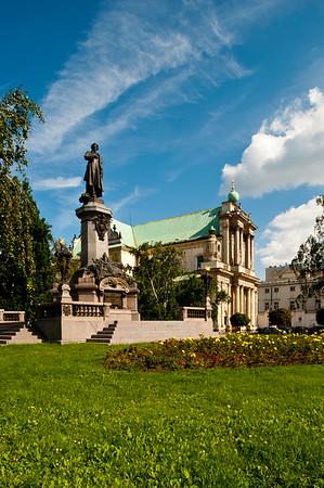 Monument to Adam Mickiewicz, Warsaw, Poland