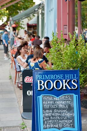 Sidewalk cafe, Primrose Hill, London, United Kingdom