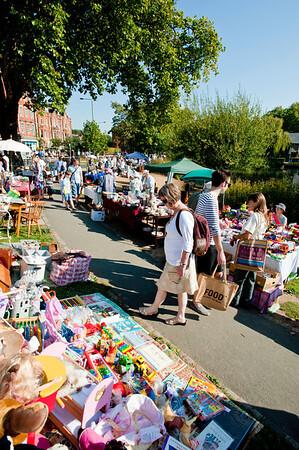 Saturday market by the pond, Barnes, SW13, London, United Kingdom