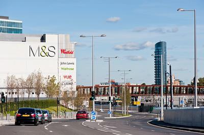 Modern development in recently regenerated area in Stratford, London, United Kingdom