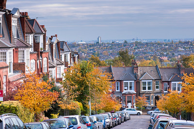 Residential street, Muswell Hill, London, United Kingdom