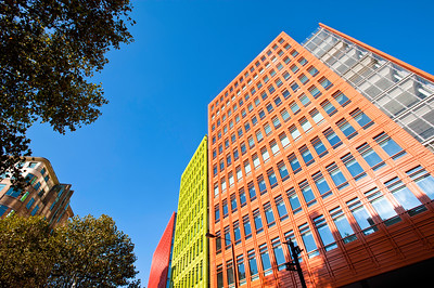 Central Saint Giles, modern development designed by Italian architect Renzo Piano, London, United Kingdom