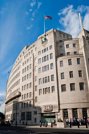 BBC building on Langham Place, London, United Kingdom