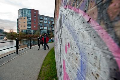Graffiti by Lee canal, Hackney Wick, London, United Kingdom
