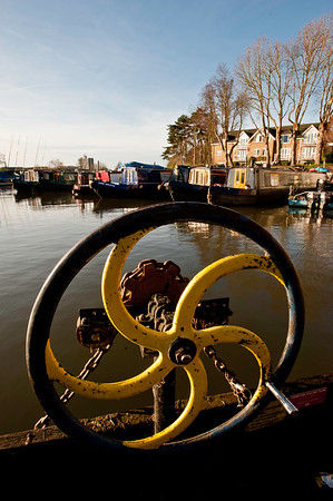 Ferry detail, Thames River, Hampton, London, United Kingdom
