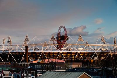 Olympic Stadium seen from Hackney Wick, E9, London, United Kingdom