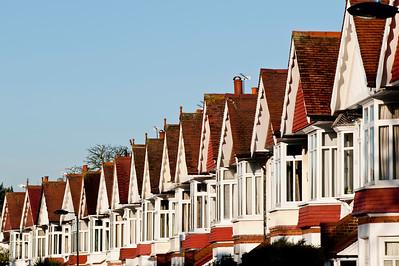 Row of houses, Kew, London, United Kingdom