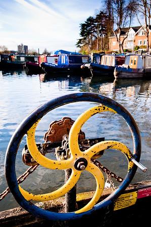 Detail of ferry, River Thames, Hampton, London, United Kingdom